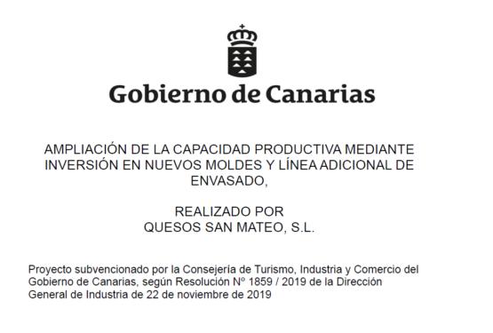 PROYECTO AMPLIACIÓN DE LA CAPACIDAD PRODUCTIVA MEDIANTE INVERSIÓN EN NUEVOS MOLDES Y LÍNEA ADICIONAL DE ENVASADO.